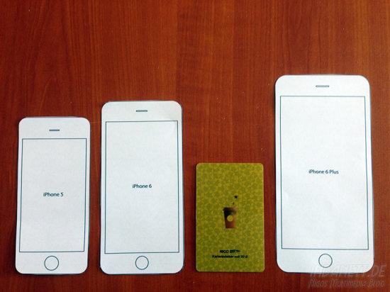iPhone 6 Größenvergleich mit Starbucks-Card