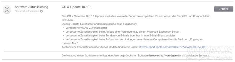 OS X Update 10.10.1