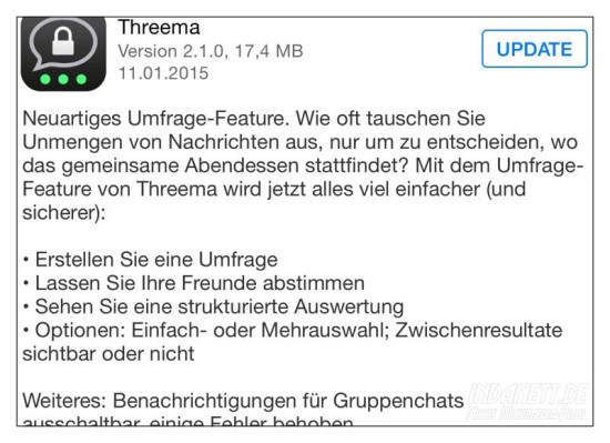 Threema Umfrage-Funktion