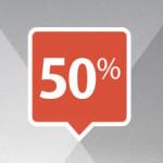 mytaxi 50 Prozent Rabatt Logo