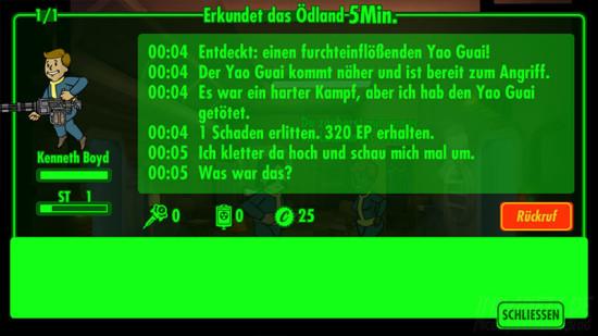 Fallout Shelter Erkunden