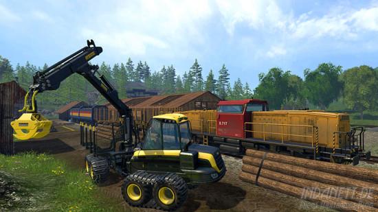 Landwirtschafts-Simulator 2015 Xbox One Holz verladen
