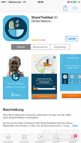 ShareTheMeal App Store