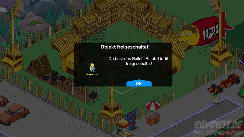 Die Simpsons - Springfield Tipp-Ball Akt 3 - Ballett-Ralph-Outfit