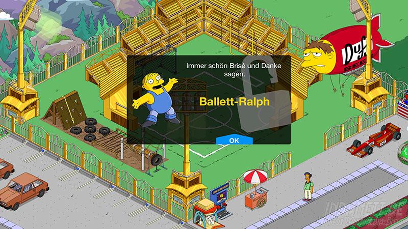 Die Simpsons - Springfield Tipp-Ball Akt 3 - Ballett-Ralph-Outfit Detail