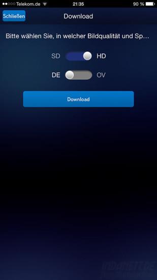 Sky Go Extra Download Qualität und Sprache