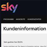 Sky Preiserhöhung Artikelbild