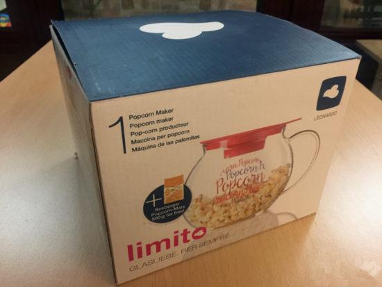 Popcorn-Maker Limito Leonardo Popcorn Verpackung