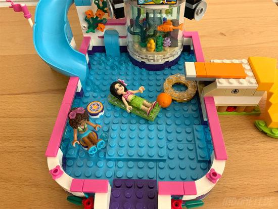 LEGO Friends 41313 Heartlake Freibad Pool von oben