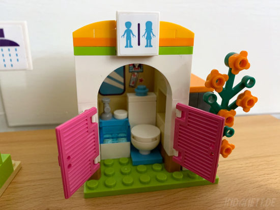 LEGO Friends 41313 Heartlake Freibad Toilette offen