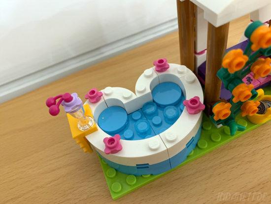 LEGO Friends 41313 Heartlake Freibad Whirlpool von oben