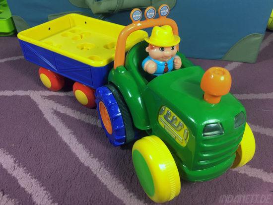KiddieLand Traktor mit Anhänger Bauer und Traktor