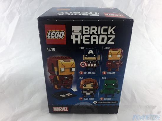 LEGO BrickHeadz Iron Man Verpackung Rückseite