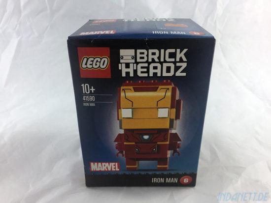 LEGO BrickHeadz Iron Man Verpackung Vorderseite