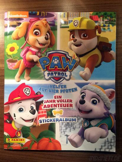 Paw Patrol Stickeralbum Panini hochkant