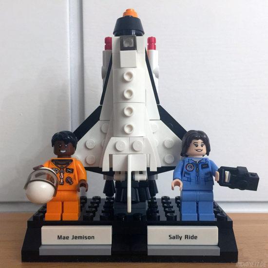 Women of NASA / Die NASA-Frauen - LEGO-Set 21312 - Mae Jemison und Sally Ride mit Spaceshuttle Challenger