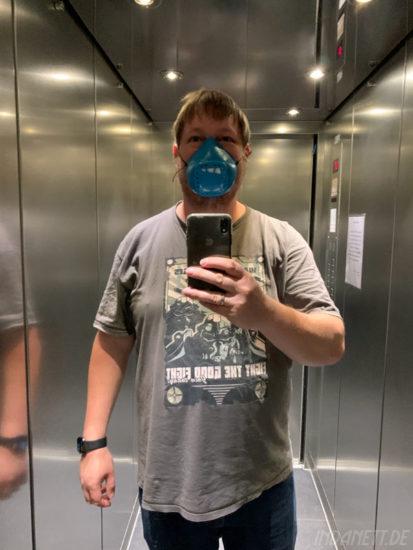 Playmobil Nase-Mund-Maske angezogen