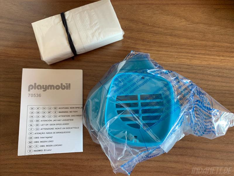Playmobil Nase-Mund-Maske Lieferumfang